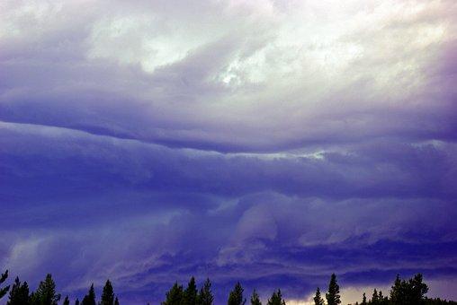 Dark Sky Over May Creek, Storm, Clouds, Thunderstorm