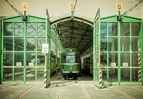 Tram, Depot, Dare, Public, Train, Historically