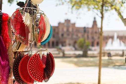 Spanish, Souvenir, Spain, National, Culture, Fans