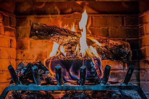 Fireplace, Fire, Wood, Burn