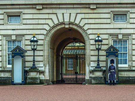 Buckingham Palace, Gate, Guard, Building, Architecture