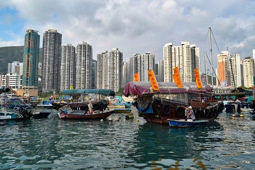 Hong Kong, Hong Kong River, Hong Kong Boat, Asia, China