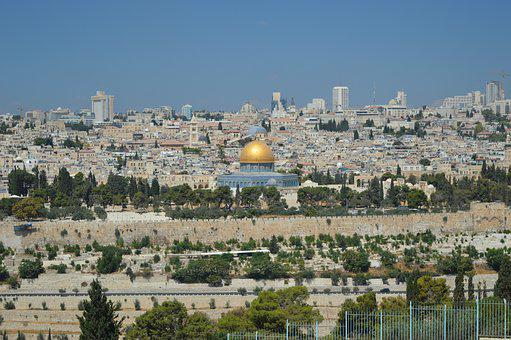 Jerusalem, Israel, Dome Of The Rock, Mount Of Olives