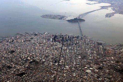 San Francisco, Aerial, Bay Area, City, Landscape