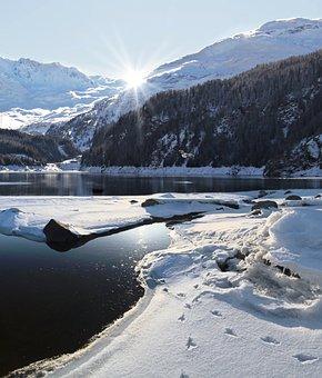 Winter, Mountain, Snow, Landscape, Alpine, Outdoors