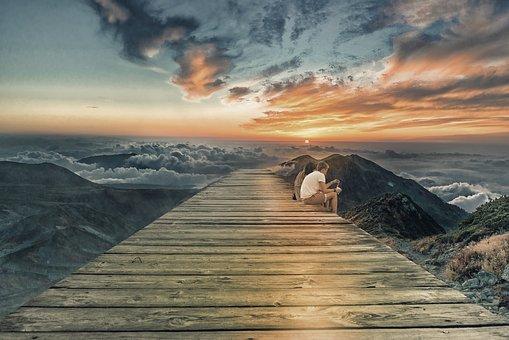 Valley, Couple, View, Landscape, Romantic, Mountain