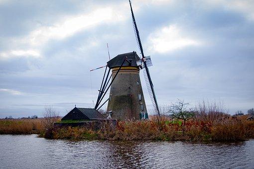 Holland, Kinderdijk, Landscape, Netherlands