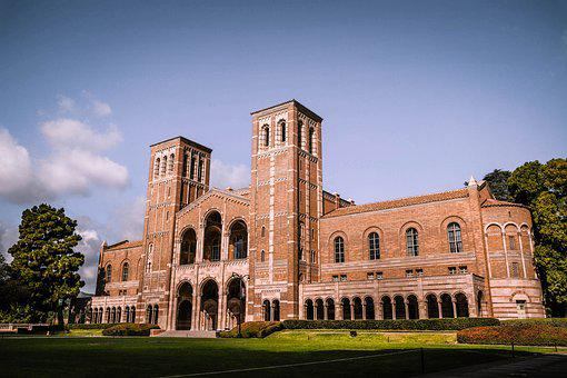 America, European, Castle, School, College, Old, Brick