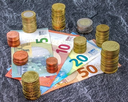Money, Coins, Bank Note, Euro, Cent, Currency, Pay