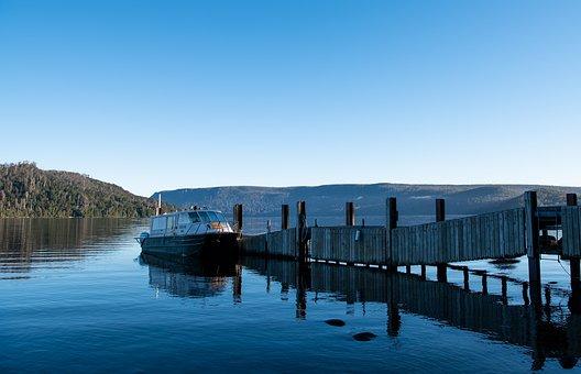 Jetty, Pier, Ferry, Lake St Clair, Lake, Tasmania