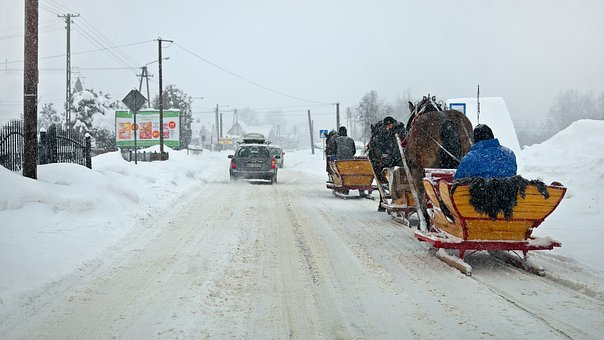 Pimp My Sleigh, Winter, Way, Snow, Transport, Sled