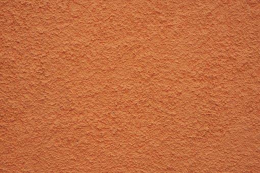 Wall, Stone, Orange, Plaster, Cement, Macro, Background