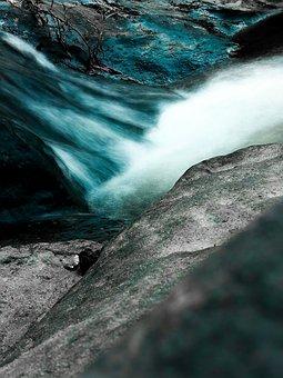 Water, Mountains, Lake, River, Sea, Rock, Trees