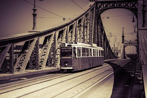 Tram, Budapest, Hungary, Traffic, City, Road, Europe