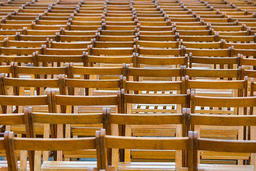 Rows, Chairs, Brown, Audience, Seats, Seating, Seat