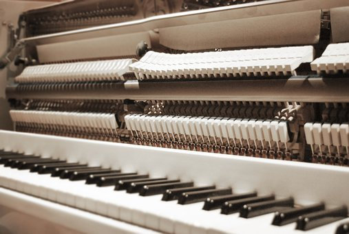 Piano, Open, Keys, Sepia, Music, Instrument, Acoustic