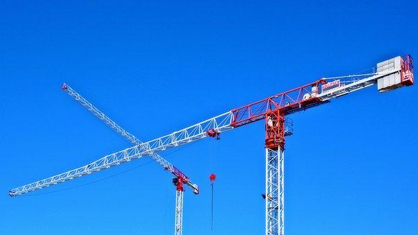 Crane, Site, Sky, Construction, Real Estate, Building