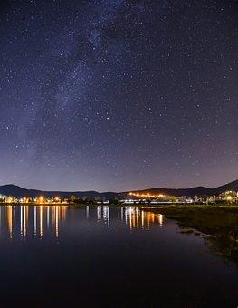 Slovakia, Milky Way, The Galaxy, Night, The Sky, Blue