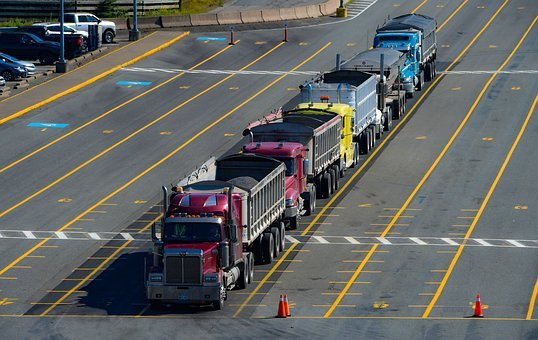 Truck, Trailer, Vehicle, Transport, Freight, Road