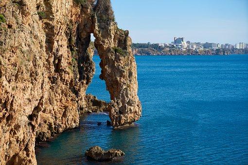 Marine, Landscape, Kennedy, Rocks, Blue, Beach, Water