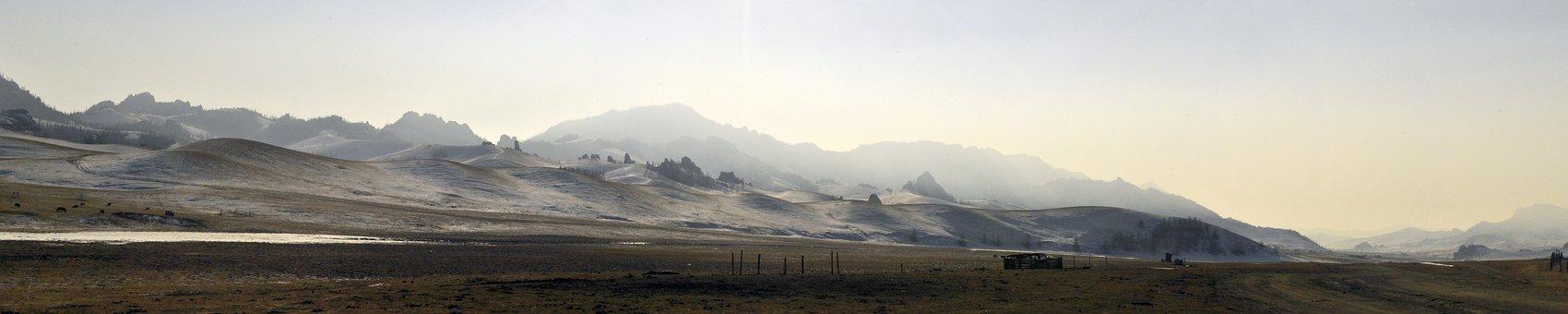 Mountains, Winter, Landscape, Nature, Cold, Mongolia