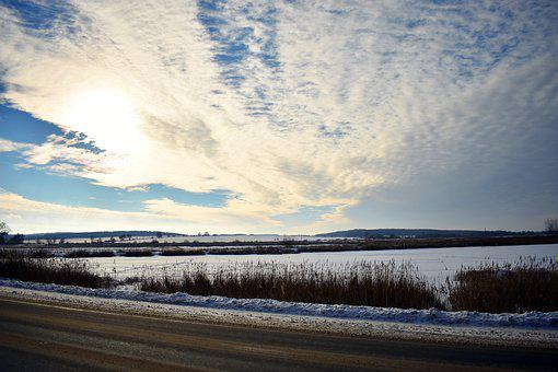 Winter, Sky, Landscape, Snow, Nature, Cold, Clouds