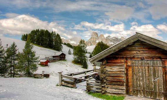 Pralongia, Winter, Dolomites, Snow, Nature, Landscape