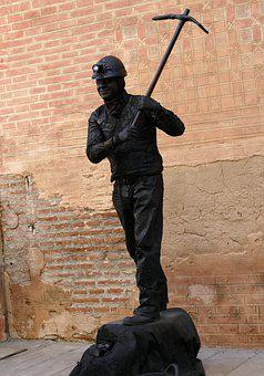 Image, Statue, Alive, Miner, Coal, Black, Pickaxe