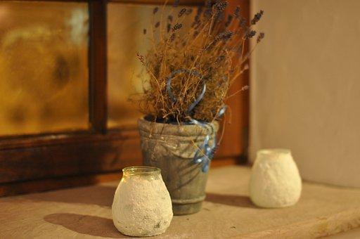 Window Sill, Vase, Arrangement, M