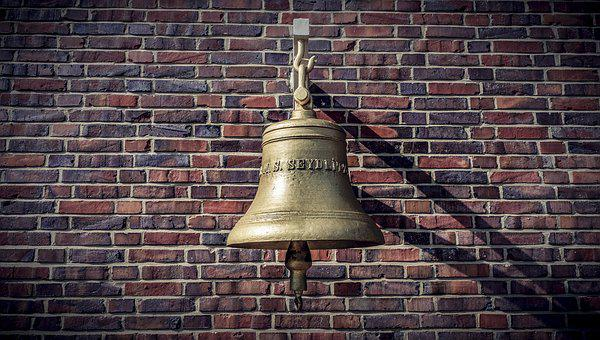Wall, Brick Wall, Show Elsteine, Bell, Background, Old
