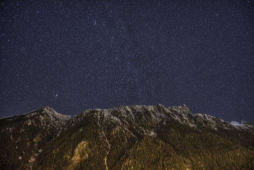 Chamonix, Milky Way, Mountain
