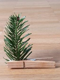 Christmas, Tree, Clothes Peg, Advent, Map