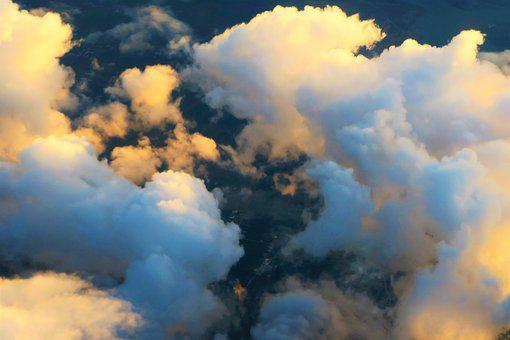 Clouds, Cloud, Sunset, Day Light, Sky, Nature, Air