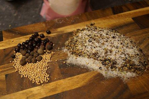 Salt, Pepper, Allspice, Juniper, Mustard, Cook, Kitchen