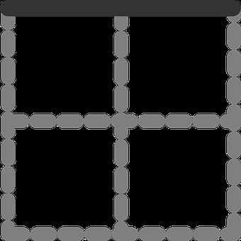 Top, Border, Table, Cells, Digital, Quarters, Square