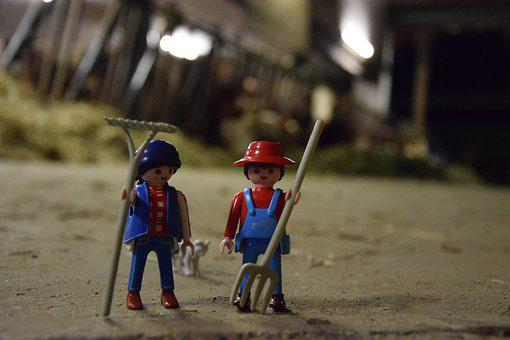 Playmobil, Bauer, Farmer, Figures, Agriculture, Toys