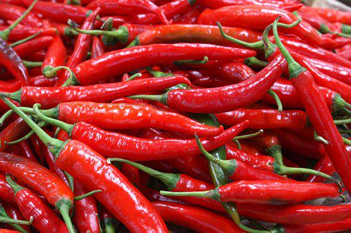 Chili Pepper, Market, Vegetables, Food, Spices, Chile
