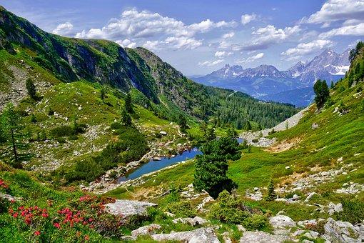 Gasselsee, Alpine, Bergsee, Nature, Blue, Lake