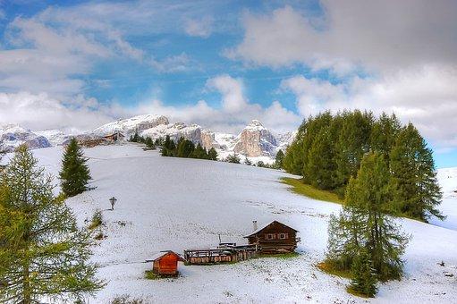 Pralongia, Dolomites, Alpine, Nature, Italy
