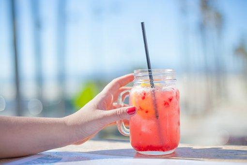 Hand, Woman, Female, Jar, Glass, Beverage, Summer