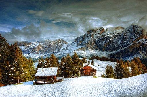 Winter, Dolomites, Snow, Nature, Landscape, Mountain