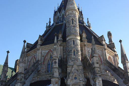 Library Of Parliament, Canada, Building, Downtown