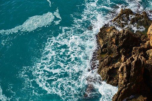 Waves, Rocks, Kennedy, Wave, Marine, Water, Nature