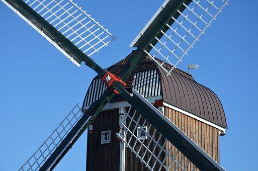 Dornum, East Frisia, Northern Germany, Wind Power, Mill