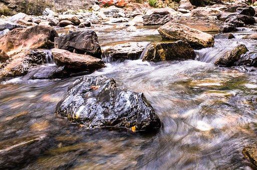 Creek, Moss, Fall, Landscape, Flow, Brook, Natural