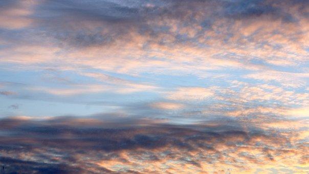Air, Nature, Clouds, Heaven, Sunrise, Blue, Skies