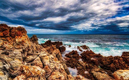 Sea, Ocean, Wave, Blue, Sky, Water, Nature, Peace