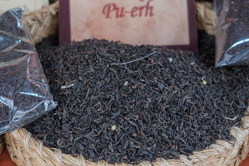 Tea, Pu-erh, Brown, Pu-er, China, Dried, Market, Drink