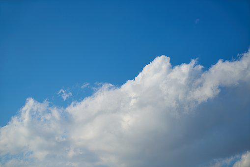 Cloud, White, Sky, Clouds, Blue, Air, Nature, Landscape