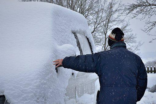 Winter, Man, Auto, Snow, Disability, Vehicle, Ice Cold